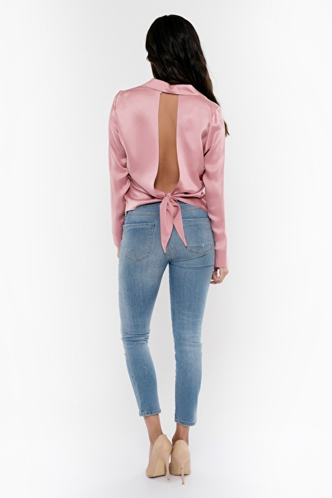 Silk and Cashmere Gömlek Pembe